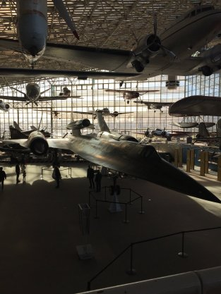 The SR-71 surrounded by a gaggle.