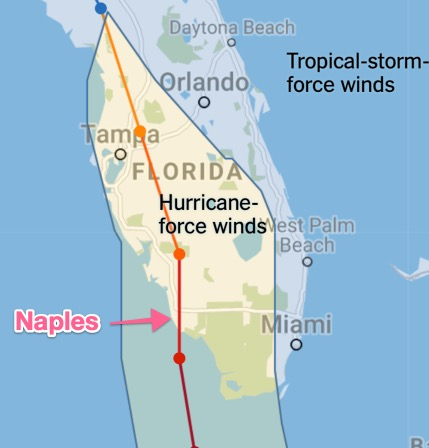 Hurricane Irma Path
